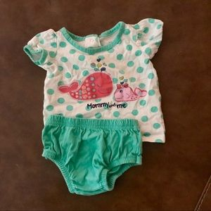 Other - Mommy and me whale T-shirt and bloomer. 6m
